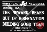 Image of Newark Bears Sebring Florida USA, 1941, second 2 stock footage video 65675071400