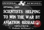 Image of aviation research in World War 2 Ottawa Ontario Canada, 1941, second 4 stock footage video 65675071401