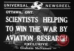 Image of aviation research in World War 2 Ottawa Ontario Canada, 1941, second 6 stock footage video 65675071401
