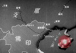 Image of Animated map showing paths of Japanese occupation Hanoi French Indochina, 1940, second 9 stock footage video 65675071426