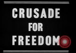 Image of crusade for freedom New York United States USA, 1951, second 1 stock footage video 65675071436