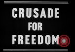 Image of crusade for freedom New York United States USA, 1951, second 2 stock footage video 65675071436
