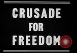 Image of crusade for freedom New York United States USA, 1951, second 3 stock footage video 65675071436