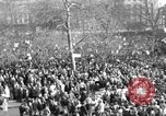 Image of British demonstrate against American involvement in Vietnam London England United Kingdom, 1968, second 5 stock footage video 65675071477
