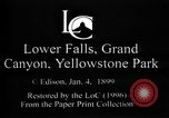 Image of Lower Falls Wyoming United States USA, 1897, second 2 stock footage video 65675071543