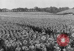 Image of Adolf Hitler in Nazi rally at Zeppelin Field in Nuremberg Germany, 1933, second 3 stock footage video 65675071551