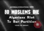 Image of street riots Algeria, 1961, second 4 stock footage video 65675071615