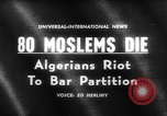 Image of street riots Algeria, 1961, second 5 stock footage video 65675071615