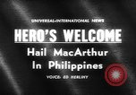 Image of Douglas MacArthur Manila Philippines, 1961, second 1 stock footage video 65675071617