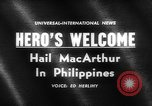 Image of Douglas MacArthur Manila Philippines, 1961, second 3 stock footage video 65675071617