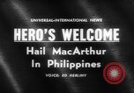 Image of Douglas MacArthur Manila Philippines, 1961, second 5 stock footage video 65675071617