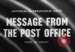 Image of Post Office Department United States USA, 1958, second 1 stock footage video 65675071627