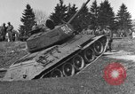 Image of American M-4 tank Liezen Austria, 1945, second 5 stock footage video 65675071653