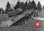 Image of American M-4 tank Liezen Austria, 1945, second 7 stock footage video 65675071653