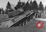 Image of American M-4 tank Liezen Austria, 1945, second 9 stock footage video 65675071653