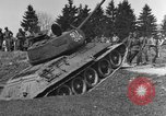 Image of American M-4 tank Liezen Austria, 1945, second 10 stock footage video 65675071653