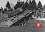 Image of American M-4 tank Liezen Austria, 1945, second 11 stock footage video 65675071653