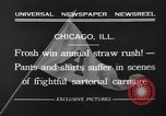 Image of shirts torn off during annual Straw Race Chicago Illinois USA, 1932, second 6 stock footage video 65675071663