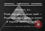 Image of shirts torn off during annual Straw Race Chicago Illinois USA, 1932, second 7 stock footage video 65675071663