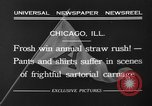 Image of shirts torn off during annual Straw Race Chicago Illinois USA, 1932, second 11 stock footage video 65675071663