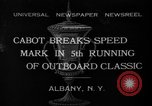 Image of motor boat racing Albany New York USA, 1932, second 1 stock footage video 65675071664