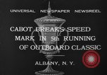Image of motor boat racing Albany New York USA, 1932, second 10 stock footage video 65675071664