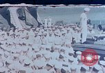Image of Change of Command ceremony aboard battleship Pacific Theater, 1944, second 1 stock footage video 65675071668