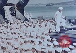 Image of Change of Command ceremony aboard battleship Pacific Theater, 1944, second 2 stock footage video 65675071668