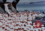 Image of Change of Command ceremony aboard battleship Pacific Theater, 1944, second 5 stock footage video 65675071668