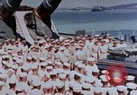 Image of Change of Command ceremony aboard battleship Pacific Theater, 1944, second 6 stock footage video 65675071668