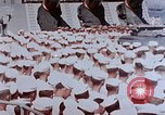 Image of Change of Command ceremony aboard battleship Pacific Theater, 1944, second 8 stock footage video 65675071668