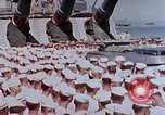 Image of Change of Command ceremony aboard battleship Pacific Theater, 1944, second 10 stock footage video 65675071668