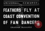 Image of fan dancers San Diego California USA, 1936, second 4 stock footage video 65675071671