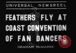 Image of fan dancers San Diego California USA, 1936, second 6 stock footage video 65675071671