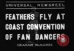 Image of fan dancers San Diego California USA, 1936, second 7 stock footage video 65675071671