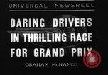 Image of Grand Prix motor racing Monte Carlo Monaco, 1936, second 1 stock footage video 65675071675