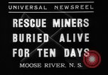 Image of Moose River Gold Mines Nova Scotia, 1936, second 12 stock footage video 65675071677