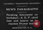 Image of John Joseph Pershing Washington DC USA, 1930, second 1 stock footage video 65675071703