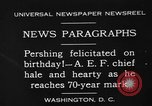Image of John Joseph Pershing Washington DC USA, 1930, second 2 stock footage video 65675071703