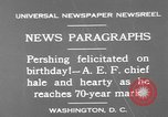 Image of John Joseph Pershing Washington DC USA, 1930, second 3 stock footage video 65675071703