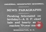 Image of John Joseph Pershing Washington DC USA, 1930, second 4 stock footage video 65675071703