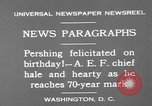 Image of John Joseph Pershing Washington DC USA, 1930, second 5 stock footage video 65675071703
