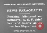 Image of John Joseph Pershing Washington DC USA, 1930, second 7 stock footage video 65675071703