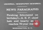 Image of John Joseph Pershing Washington DC USA, 1930, second 8 stock footage video 65675071703