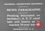Image of John Joseph Pershing Washington DC USA, 1930, second 9 stock footage video 65675071703
