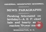 Image of John Joseph Pershing Washington DC USA, 1930, second 10 stock footage video 65675071703
