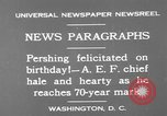 Image of John Joseph Pershing Washington DC USA, 1930, second 11 stock footage video 65675071703