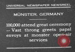 Image of Christian ceremony Munster Germany, 1930, second 1 stock footage video 65675071704