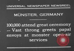 Image of Christian ceremony Munster Germany, 1930, second 11 stock footage video 65675071704