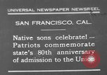Image of anniversary of admission to Union San Francisco California USA, 1930, second 1 stock footage video 65675071706